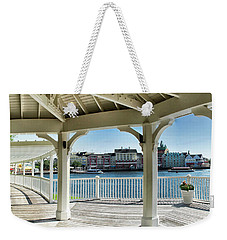 The View From The Boardwalk Gazebo At Disney World Mp Weekender Tote Bag