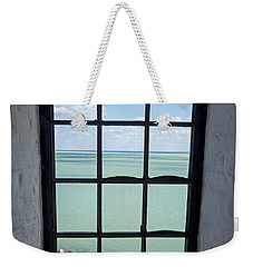 The View From The Lighthouse Window Bill Baggs Lighthouse Key Biscayne Florida Weekender Tote Bag
