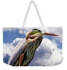The Vigilant Sentinel Heron II Weekender Tote Bag