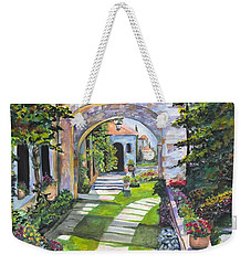 Weekender Tote Bag featuring the digital art The Villa by Darren Cannell