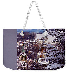 Weekender Tote Bag featuring the photograph The Village - Winter In Switzerland by Susanne Van Hulst