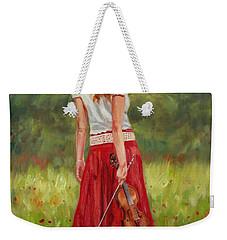 The Violinist Weekender Tote Bag by David Stribbling