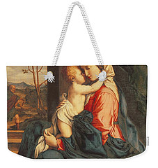 The Virgin And Child Embracing Weekender Tote Bag