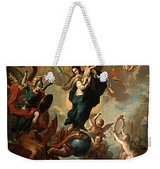 The Virgin Of The Apocalypse Weekender Tote Bag by Miguel Cabrera