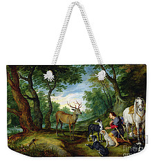 The Vision Of Saint Hubert Weekender Tote Bag