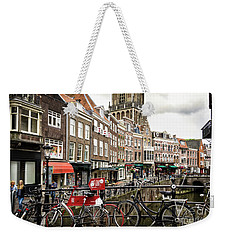Weekender Tote Bag featuring the photograph The Vismarkt In Utrecht by RicardMN Photography