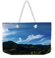 Weekender Tote Bag featuring the photograph The Volcanic Hills by Steve Taylor