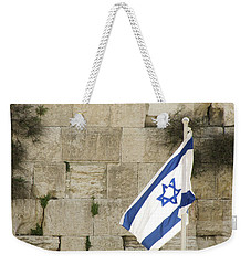 The Wailing Wall And The Flag Weekender Tote Bag by Yoel Koskas
