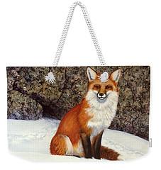 The Wait Red Fox Weekender Tote Bag