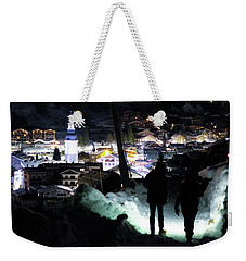 Weekender Tote Bag featuring the photograph The Walk Into Town- by JD Mims