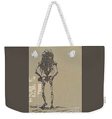 Weekender Tote Bag featuring the drawing The Walking Dead by Reed Novotny