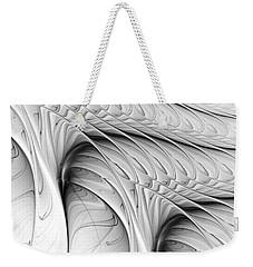 Weekender Tote Bag featuring the digital art The Wall by Anastasiya Malakhova