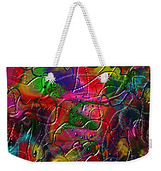 Weekender Tote Bag featuring the painting The Wall by Kevin Caudill