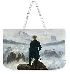 The Wanderer Above The Sea Of Fog Weekender Tote Bag by Caspar David Friedrich