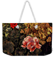 The Warmth Of Summer - Colors In The Garden Weekender Tote Bag by Miriam Danar