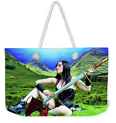 The Warrior And The Pseudo Dragon Weekender Tote Bag