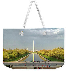 The Washington Monument And The Reflecting Pool Weekender Tote Bag