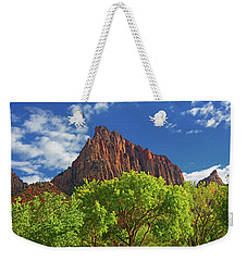 Weekender Tote Bag featuring the photograph The Watchman 4 by Raymond Salani III
