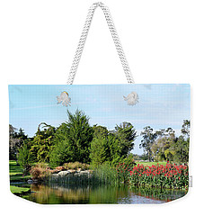 Weekender Tote Bag featuring the photograph The Water On Number One Santa Maria Country Club by Barbara Snyder