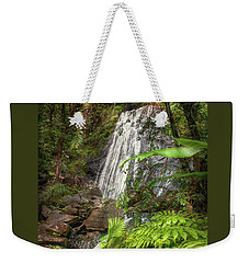 Weekender Tote Bag featuring the photograph The Waterfall by Hanny Heim