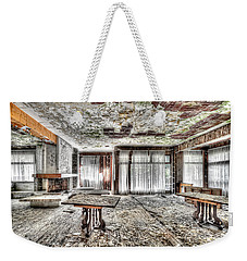 Weekender Tote Bag featuring the photograph The Waterfall Hotel - L'hotel Della Cascata by Enrico Pelos