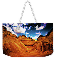 Weekender Tote Bag featuring the photograph The Wave Arizona Light by Norman Hall