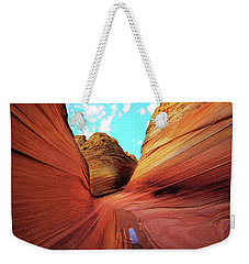 Weekender Tote Bag featuring the photograph The Wave Arizona by Norman Hall