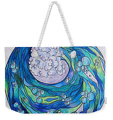 Weekender Tote Bag featuring the drawing The Wave by Megan Walsh