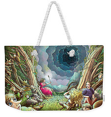 The Wave Of Space And Time Weekender Tote Bag by Reynold Jay