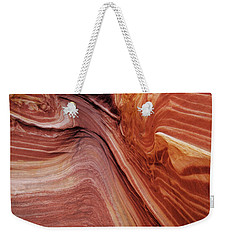 Weekender Tote Bag featuring the photograph The Wave Trail by Norman Hall