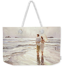 Weekender Tote Bag featuring the painting The Way That It Should Be by Steve Henderson