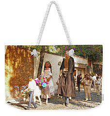 Weekender Tote Bag featuring the photograph The Wedding Parade by John Kolenberg