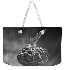 Weekender Tote Bag featuring the photograph The Weight Is Lifted by Randall Nyhof