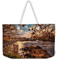 The Weir At Teddington Weekender Tote Bag
