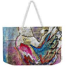 The Well Read Chicken Weekender Tote Bag by Janice Rae Pariza