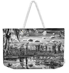 Weekender Tote Bag featuring the photograph The Wetlands by Howard Salmon