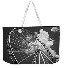 The Wheel And Sky In Black And White Weekender Tote Bag