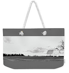 Weekender Tote Bag featuring the photograph The White Barn by Rebecca Cozart