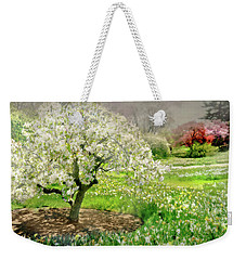 Weekender Tote Bag featuring the photograph The White Canopy by Diana Angstadt