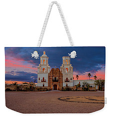 Weekender Tote Bag featuring the photograph The White Dove Of The Desert by Susan Rissi Tregoning