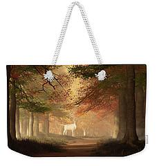 The White Elk Weekender Tote Bag by Daniel Eskridge