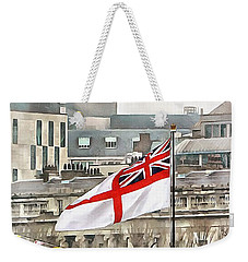 The White Ensign Flying On Hms Belfast Weekender Tote Bag