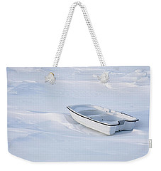 The White Fishing Boat Weekender Tote Bag by Nick Mares