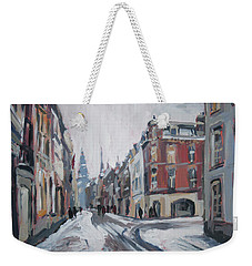 The White Grand Canal Street Maastricht Weekender Tote Bag
