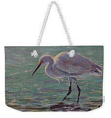 The White Heron Weekender Tote Bag