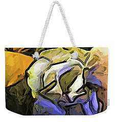 The White Rose And The Yellow Petals Weekender Tote Bag
