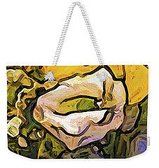 The White Rose With The Eye And Gold Petals Weekender Tote Bag