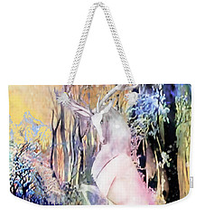 The White Stag And Mount Ushba Weekender Tote Bag by Anastasia Savage Ealy