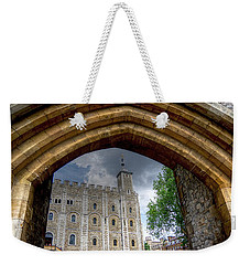 The White Tower Through A Portal Weekender Tote Bag