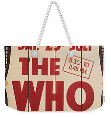 The Who 1966 Tour Poster Weekender Tote Bag